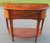 Bowfront Walnut Console Side Table